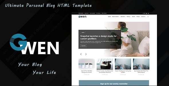 Html5 Personal Html Website Templates From Themeforest
