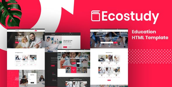 ecostudy education html5 template
