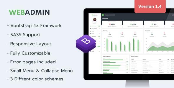 webadmin responsive admin dashboard template