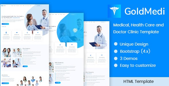 GoldMedi - Medical, Health Care and Doctor Clinic Template