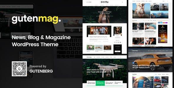 GutenMag - Gutenberg WordPress Theme for Magazine and Blog