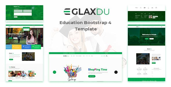 glaxdu education bootstrap 4 template