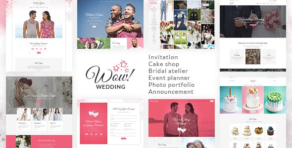 wowedding wedding oriented html website template