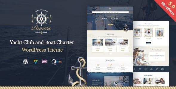 Lamaro - Yacht Club and Rental Boat Service WordPress Theme