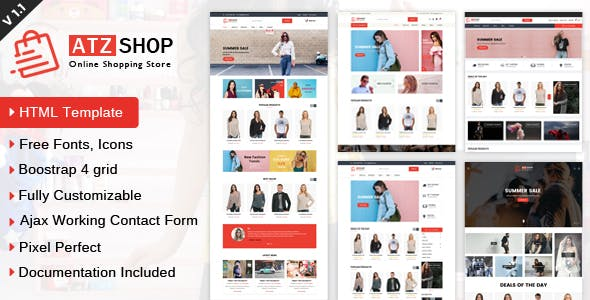 Online Store Templates From Themeforest