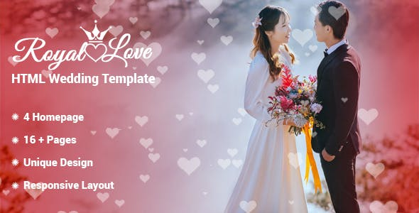Royal Love - HTML Wedding Template nulled theme download