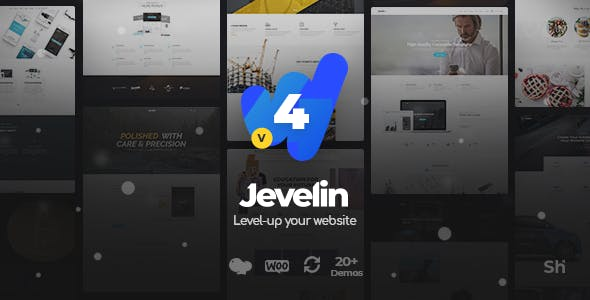 Jevelin Multi-Purpose Premium Responsive WordPress Theme by Shufflehound