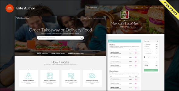 QuickFood - Delivery or Takeaway Food WordPress Theme