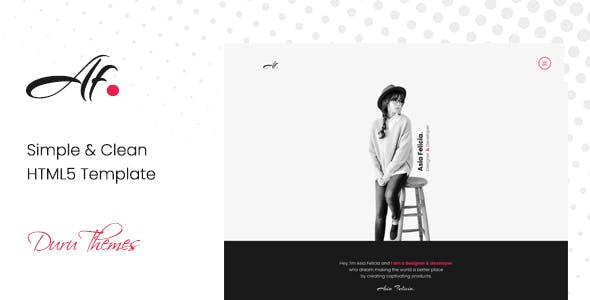 simple clean html5 template for creatives