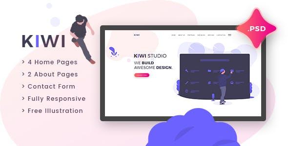 Kiwi Creative One Page Psd Template
