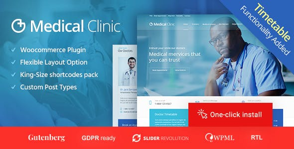 Medical Clinic - Health & Doctor Medical WordPress Theme