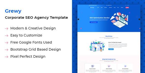 Grewy - SEO Agency HTML Template