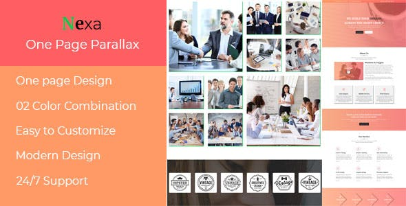 Nexa - One Page Parallax Muse Template nulled theme download