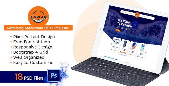 Soccer PSD Files And Photoshop Templates From ThemeForest