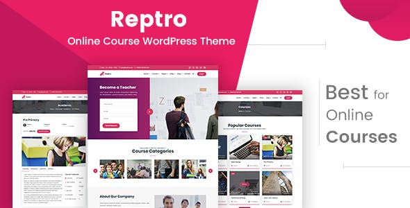 Reptro - Online Course WordPress Theme by xoo_themes | ThemeForest