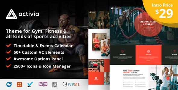 Activia -  Gym and Fitness WordPress Theme