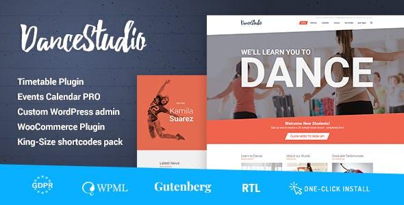 Dance Studio WordPress Theme For Dancing Schools Clubs