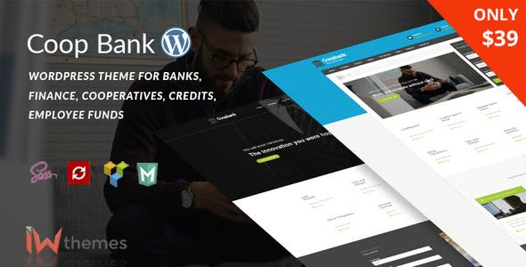 Financial , Banking & Credits WordPress Theme    CoopBank