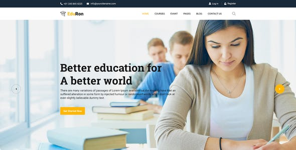 Eduron Education Insute Training Center Html Template