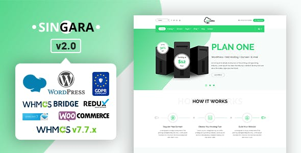 Download EcoHosting | Responsive Hosting and WHMCS WordPress Theme nulled 01 singara