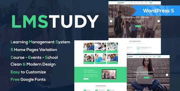 LMStudy - Course / Learning / Education LMS WooCommerce Theme