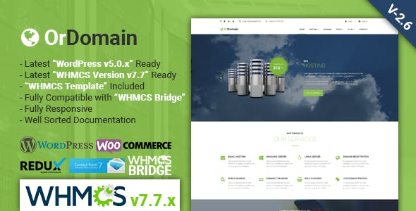 Download EcoHosting | Responsive Hosting and WHMCS WordPress Theme nulled 01 ordomain