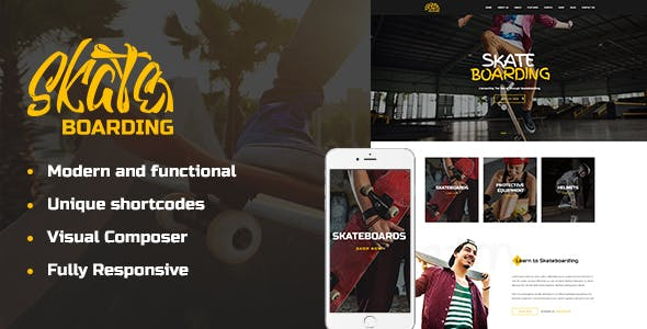 Skateboarding Community & Store WordPress Theme
