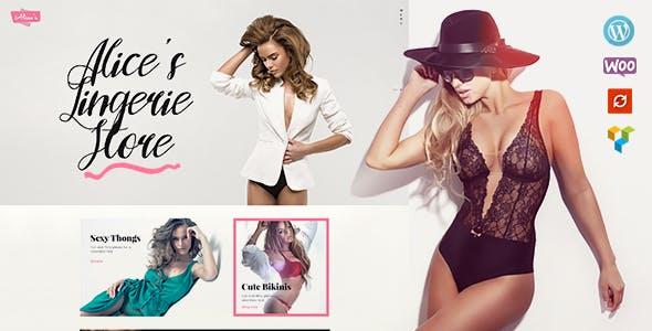 Alice's | Lingerie Store and Fashion Boutique WordPress Theme