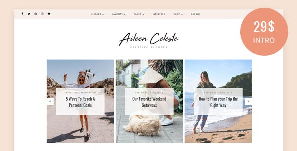 Aileen - A Personal Blog & Shop Theme