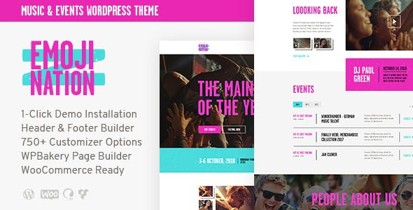 EmojiNation | Night Club & Concert WordPress Theme