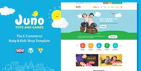 Juno | Kids Toys & Games Store WordPress Theme