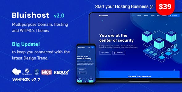 Download EcoHosting | Responsive Hosting and WHMCS WordPress Theme nulled 01 bluishost
