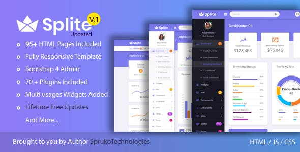 Admin bootstrap responsive html template Free Download
