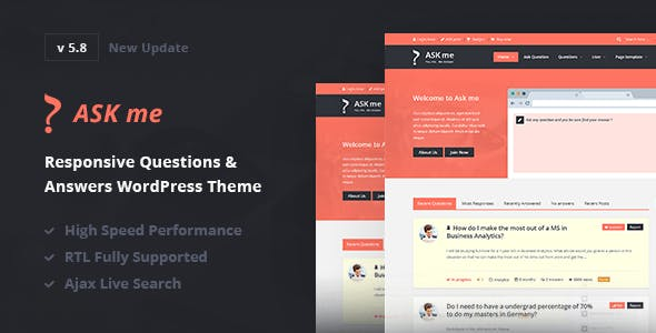 Ask Me - Responsive Questions & Answers WordPress by 2codeThemes