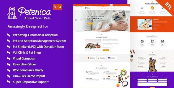 Petenica: Pet Sitter and Adoption WordPress Theme