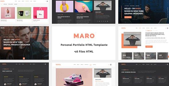 Maro Personal Portfolio Html Template