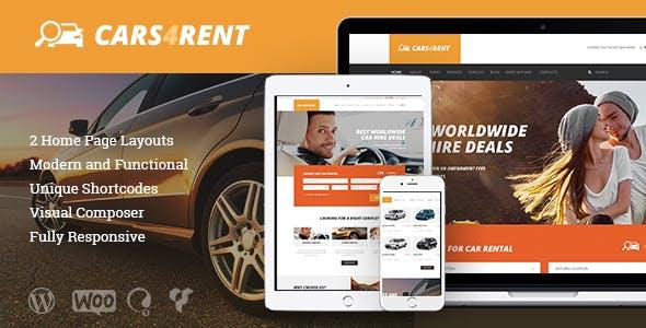 Cars4Rent   Car Rental & Taxi Service WordPress Theme