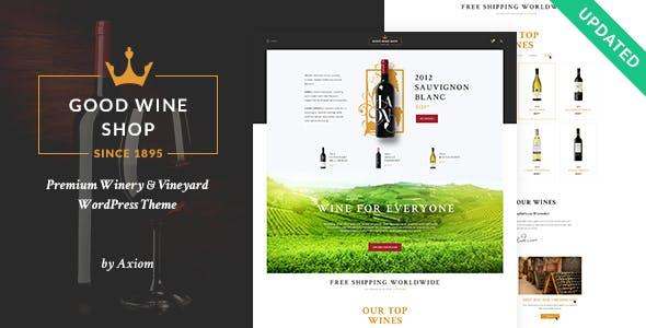 Good Wine | Wine House, Winery & Wine Shop WordPress Theme