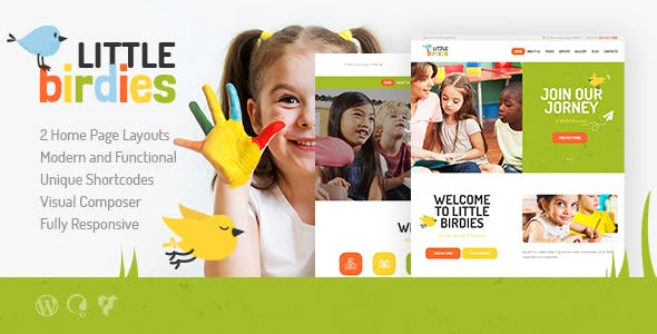 Little Birdies | A Multipurpose Children WordPress Theme