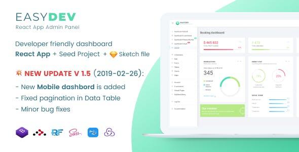 EasyDev — Developer Friendly React Redux BS4 Admin Template + Seed
