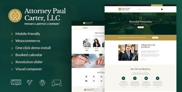 The Law - A Classic Legal Advisers & Attorneys WordPress Theme