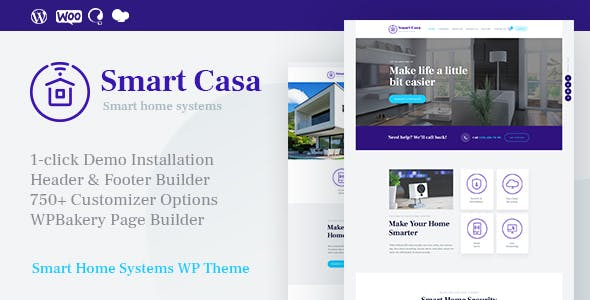 Smart Casa | Home Automation & Technologies WordPress Theme