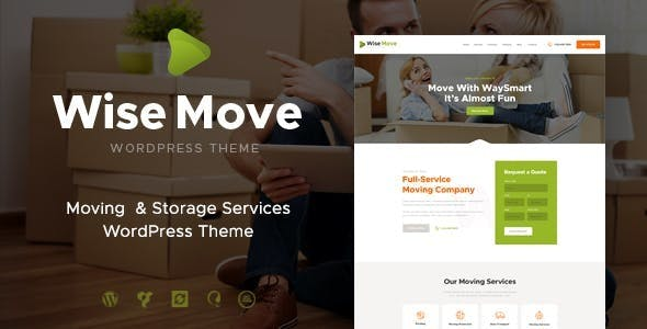 Wise Move | Moving and Storage Services WordPress Theme
