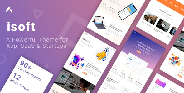 Isoft - Powerful Theme for Saas, App and Startups