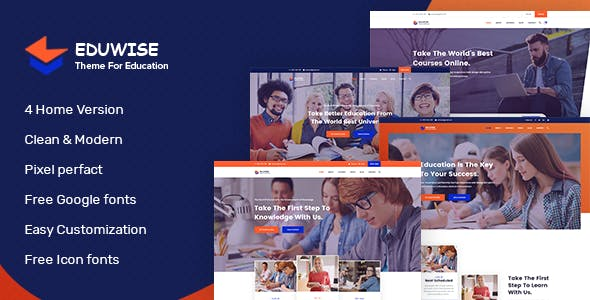 Eduwise Education Bootstrap 4 Template