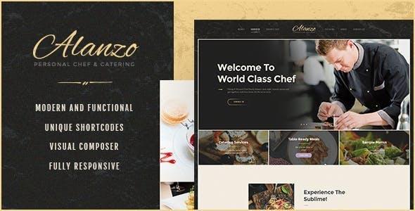 Alanzo | Personal Chef & Catering WordPress Theme