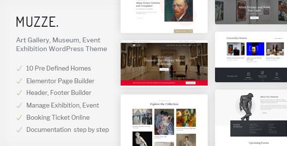 Muzze - Museum Exhibition WordPress Theme nulled theme download