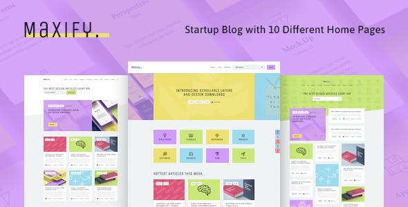 Maxify   Startup & Business Blog WordPress Theme