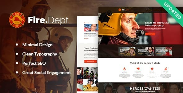 Fire Department, Fire Station and Security WordPress Theme