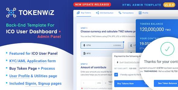TokenWiz - ICO User Dashboard & ICO Admin Template by softnio